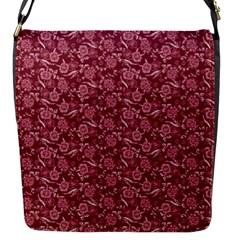 Roses Pattern Flap Messenger Bag (s) by Valentinaart