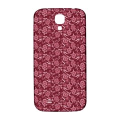 Roses Pattern Samsung Galaxy S4 I9500/i9505  Hardshell Back Case by Valentinaart