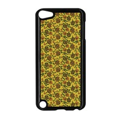 Roses Pattern Apple Ipod Touch 5 Case (black) by Valentinaart