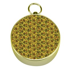 Roses Pattern Gold Compasses by Valentinaart