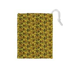 Roses Pattern Drawstring Pouches (medium)  by Valentinaart