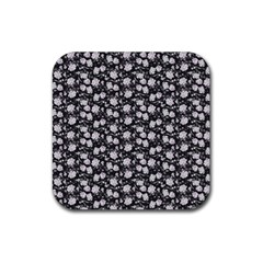 Roses Pattern Rubber Square Coaster (4 Pack)  by Valentinaart