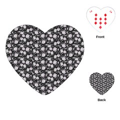 Roses Pattern Playing Cards (heart)  by Valentinaart
