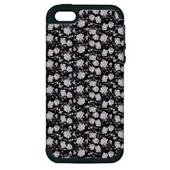Roses Pattern Apple Iphone 5 Hardshell Case (pc+silicone) by Valentinaart