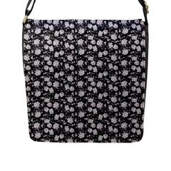 Roses Pattern Flap Messenger Bag (l)  by Valentinaart