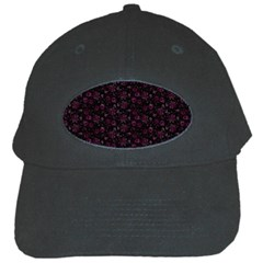 Roses Pattern Black Cap