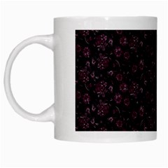 Roses Pattern White Mugs by Valentinaart