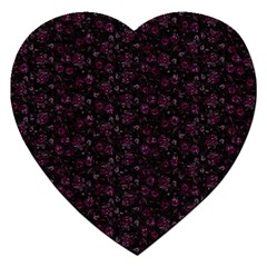Roses Pattern Jigsaw Puzzle (heart) by Valentinaart