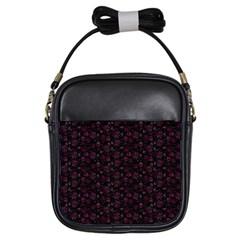 Roses Pattern Girls Sling Bags by Valentinaart