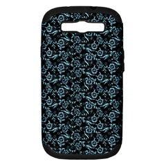 Roses Pattern Samsung Galaxy S Iii Hardshell Case (pc+silicone) by Valentinaart