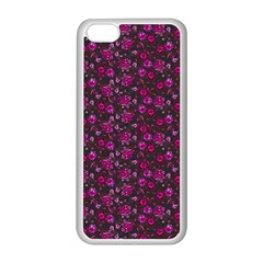 Roses Pattern Apple Iphone 5c Seamless Case (white) by Valentinaart