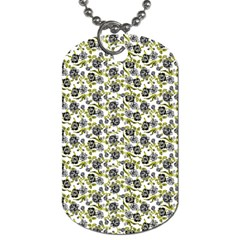 Roses Pattern Dog Tag (two Sides) by Valentinaart