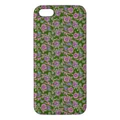 Roses Pattern Apple Iphone 5 Premium Hardshell Case by Valentinaart