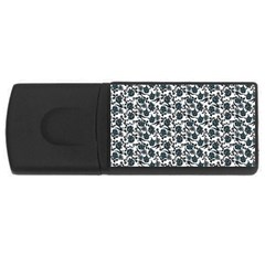 Roses Pattern Usb Flash Drive Rectangular (4 Gb) by Valentinaart