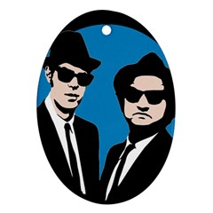 Blues Brothers  Ornament (oval) by Valentinaart