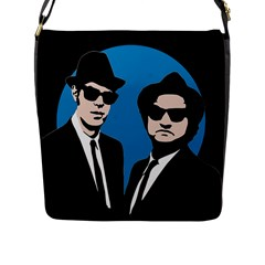 Blues Brothers  Flap Messenger Bag (l)  by Valentinaart