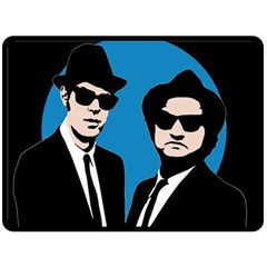Blues Brothers  Double Sided Fleece Blanket (large)  by Valentinaart