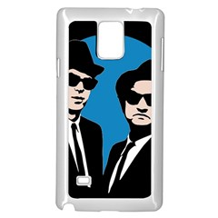 Blues Brothers  Samsung Galaxy Note 4 Case (white) by Valentinaart