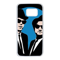 Blues Brothers  Samsung Galaxy S7 White Seamless Case by Valentinaart