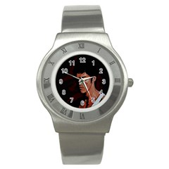 Bruce Lee Stainless Steel Watch by Valentinaart