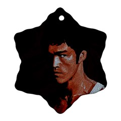 Bruce Lee Snowflake Ornament (two Sides) by Valentinaart