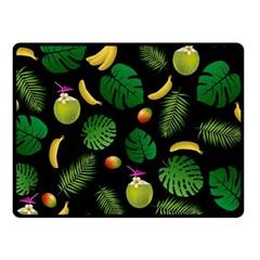 Tropical Pattern Fleece Blanket (small) by Valentinaart