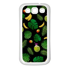 Tropical Pattern Samsung Galaxy S3 Back Case (white) by Valentinaart
