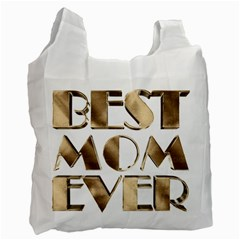 Best Mom Ever Gold Look Elegant Typography Recycle Bag (one Side) by yoursparklingshop