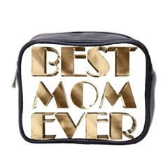 Best Mom Ever Gold Look Elegant Typography Mini Toiletries Bag 2 Side by yoursparklingshop