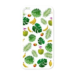 Tropical Pattern Apple Iphone 4 Case (white) by Valentinaart