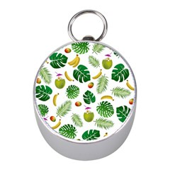 Tropical Pattern Mini Silver Compasses by Valentinaart