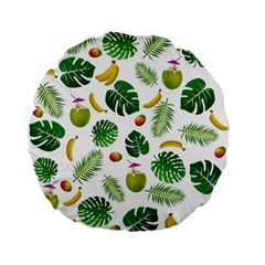 Tropical Pattern Standard 15  Premium Flano Round Cushions by Valentinaart