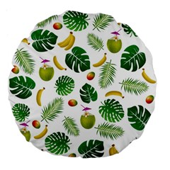 Tropical Pattern Large 18  Premium Flano Round Cushions by Valentinaart