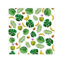 Tropical Pattern Small Satin Scarf (square) by Valentinaart