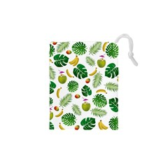 Tropical Pattern Drawstring Pouches (xs)  by Valentinaart