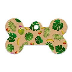 Tropical Pattern Dog Tag Bone (two Sides) by Valentinaart