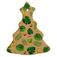 Tropical Pattern Christmas Tree Ornament (two Sides) by Valentinaart