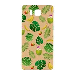 Tropical Pattern Samsung Galaxy Alpha Hardshell Back Case by Valentinaart