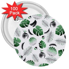 Tropical Pattern 3  Buttons (100 Pack)  by Valentinaart