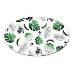 Tropical Pattern Oval Magnet by Valentinaart