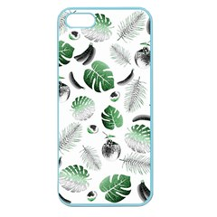 Tropical Pattern Apple Seamless Iphone 5 Case (color) by Valentinaart