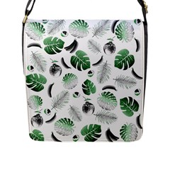 Tropical Pattern Flap Messenger Bag (l)  by Valentinaart