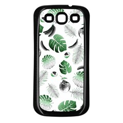 Tropical Pattern Samsung Galaxy S3 Back Case (black) by Valentinaart