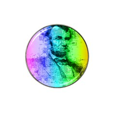 Abraham Lincoln Portrait Rainbow Colors Typography Hat Clip Ball Marker (10 Pack) by yoursparklingshop