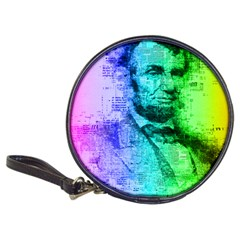 Abraham Lincoln Portrait Rainbow Colors Typography Classic 20 Cd Wallets by yoursparklingshop
