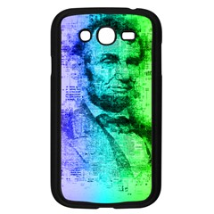 Abraham Lincoln Portrait Rainbow Colors Typography Samsung Galaxy Grand Duos I9082 Case (black) by yoursparklingshop