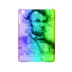 Abraham Lincoln Portrait Rainbow Colors Typography Ipad Mini 2 Hardshell Cases by yoursparklingshop