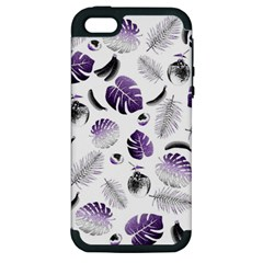 Tropical Pattern Apple Iphone 5 Hardshell Case (pc+silicone) by Valentinaart