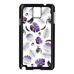 Tropical Pattern Samsung Galaxy Note 3 N9005 Case (black) by Valentinaart