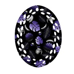 Tropical Pattern Oval Filigree Ornament (two Sides) by Valentinaart